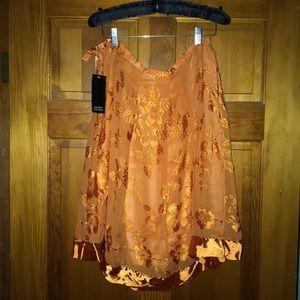 Orange Floral Skirt NWT